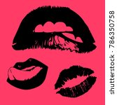 vector icons of female lips... | Shutterstock .eps vector #786350758
