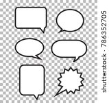 speech bubbles on transparent... | Shutterstock .eps vector #786352705