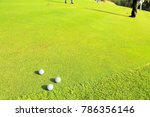 putter driving range | Shutterstock . vector #786356146
