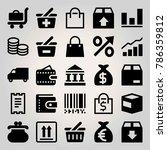 business vector icon set.... | Shutterstock .eps vector #786359812