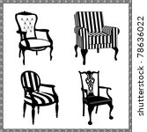 Set Of Antique Chairs...