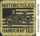 vintage background. motorcycle... | Shutterstock .eps vector #786367786