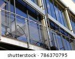 stainless steel balcony railing | Shutterstock . vector #786370795
