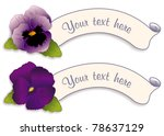pansy labels  lavender and deep ...