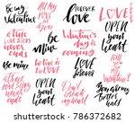 set of handdrawn modern dry... | Shutterstock .eps vector #786372682