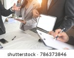 businesspeople meeting and...   Shutterstock . vector #786373846