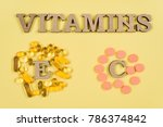 vitamins and supplements.... | Shutterstock . vector #786374842