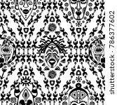 hand drawn vector seamless...   Shutterstock .eps vector #786377602