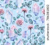 cute watercolor seamless... | Shutterstock . vector #786381802