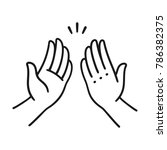 sep of two hands clapping in... | Shutterstock .eps vector #786382375