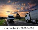 truck transportattion on the... | Shutterstock . vector #786384352