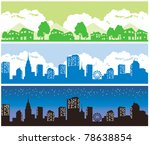 town and city | Shutterstock .eps vector #78638854
