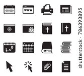 solid black vector icon set  ... | Shutterstock .eps vector #786393895