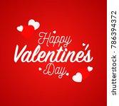 happy valentine's day... | Shutterstock .eps vector #786394372