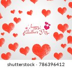 valentine's day card | Shutterstock . vector #786396412