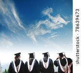 back of chinese graduates with ... | Shutterstock . vector #78639673