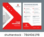 red brochure annual report... | Shutterstock .eps vector #786406198