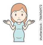pregnant women in green clothes ... | Shutterstock .eps vector #786406972