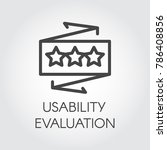 usability evaluation line icon. ... | Shutterstock .eps vector #786408856