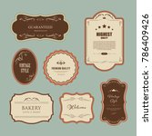 set of premium label for design ... | Shutterstock .eps vector #786409426
