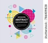 abstract circle geometric... | Shutterstock .eps vector #786409828