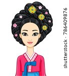 asian beauty. animation... | Shutterstock .eps vector #786409876