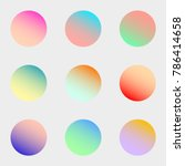 round gradient set with modern...