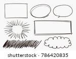 grunge sketch handmade doodle... | Shutterstock .eps vector #786420835