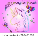 little magic   children's fairy ... | Shutterstock .eps vector #786421552
