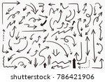 grunge sketch handmade doodle... | Shutterstock .eps vector #786421906