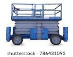 lift isolated on white... | Shutterstock . vector #786431092