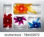 glass web banners set of 4.... | Shutterstock .eps vector #786433072