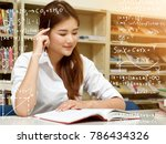 young asian student woman... | Shutterstock . vector #786434326