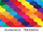 colorful curve abstract... | Shutterstock .eps vector #786436042