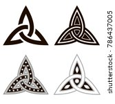 celtic knots  set of icons....   Shutterstock .eps vector #786437005