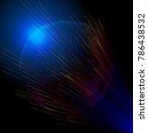 the radiation line penetrates... | Shutterstock .eps vector #786438532