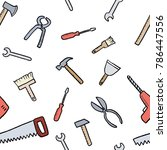 workshop tools background  ...   Shutterstock .eps vector #786447556