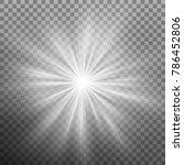 white burst glowing light... | Shutterstock .eps vector #786452806