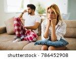 unhappy couple having crisis... | Shutterstock . vector #786452908
