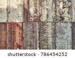 variety rust on steel plate  ...   Shutterstock . vector #786454252