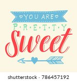 you are pretty sweet doodle...   Shutterstock .eps vector #786457192