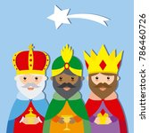 three wise men. isolated vector | Shutterstock .eps vector #786460726