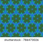 modern geometric ornament.... | Shutterstock . vector #786473026