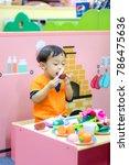 asian little cute boy in the... | Shutterstock . vector #786475636