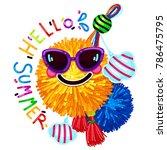 hello summer. vector... | Shutterstock .eps vector #786475795