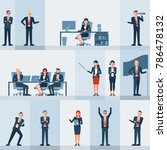 businessmen people set 1 | Shutterstock .eps vector #786478132