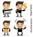 funny cartoon office worker...   Shutterstock .eps vector #78647845