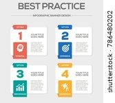 best practice infographic icons | Shutterstock .eps vector #786480202
