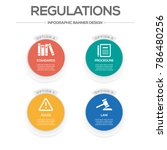 regulations infographic icons | Shutterstock .eps vector #786480256