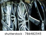 mag wheel background. magnesium ... | Shutterstock . vector #786482545